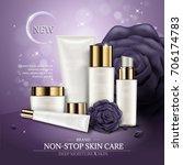 skincare ads template  white...   Shutterstock .eps vector #706174783