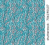 hand drawn pattern with... | Shutterstock .eps vector #706190137