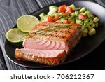 Mexican Tuna Steak With Avocad...