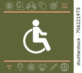 wheelchair handicap icon | Shutterstock .eps vector #706221973