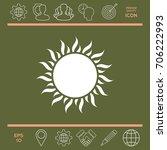 sun icon | Shutterstock .eps vector #706222993