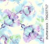 summer flowers seamless pattern.... | Shutterstock . vector #706237717