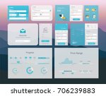 ui interface design | Shutterstock .eps vector #706239883