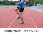 runner practice drills...   Shutterstock . vector #706247647