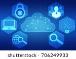 2d rendering cloud computing ... | Shutterstock . vector #706249933