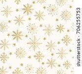 golden snowflake pattern.... | Shutterstock .eps vector #706255753