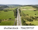 aerial view of a german... | Shutterstock . vector #706259737