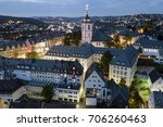 aerial view over the old town... | Shutterstock . vector #706260463
