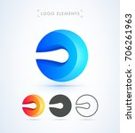 logo elements set. vector... | Shutterstock .eps vector #706261963