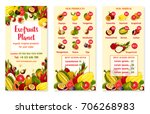 exotic tropical fruits price... | Shutterstock .eps vector #706268983