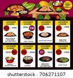 japanese cuisine restaurant... | Shutterstock .eps vector #706271107