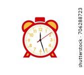 alarm clock icon isolated... | Shutterstock .eps vector #706288723