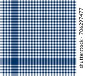 blue colored checkered table... | Shutterstock .eps vector #706297477