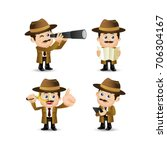 people set   profession  ... | Shutterstock .eps vector #706304167