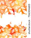 an autumn vector and watercolor ... | Shutterstock .eps vector #706304683