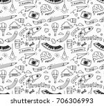 creative concept doodle... | Shutterstock .eps vector #706306993
