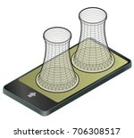 vector isometric cooling system ... | Shutterstock .eps vector #706308517