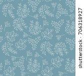christmas botanical seamless... | Shutterstock .eps vector #706318927