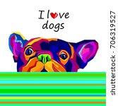french bulldog. vector...   Shutterstock .eps vector #706319527