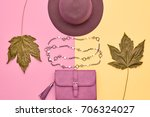 fall fashion glamour lady look... | Shutterstock . vector #706324027