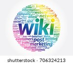 wiki word cloud collage ... | Shutterstock .eps vector #706324213