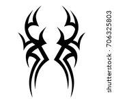 tattoo tribal vector design.... | Shutterstock .eps vector #706325803