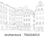 stortorget square in old city... | Shutterstock . vector #706326013