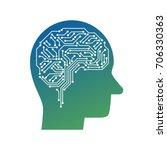 ai  artificial intelligence ... | Shutterstock .eps vector #706330363