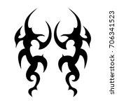 tribal tattoo art designs....   Shutterstock .eps vector #706341523