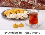 traditional iranian sweets... | Shutterstock . vector #706349047