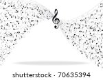 music notes background | Shutterstock .eps vector #70635394