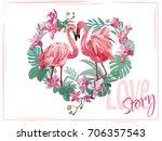 Love Story. Lovely Flamingo....