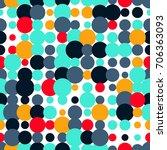 seamless pattern retro style.... | Shutterstock .eps vector #706363093