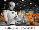 3d rendering humanoid robot... | Shutterstock . vector #706366453