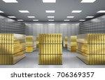 3d rendering heap of gold...   Shutterstock . vector #706369357