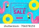summer sale banner vector...   Shutterstock .eps vector #706378153