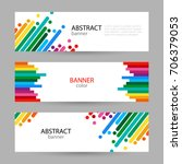 set horizontal banners with... | Shutterstock .eps vector #706379053