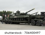 Small photo of Moscow Region, Russia - 26 August: International Military-Technical Forum «ARMY-2017», Patriot expocenter. Combat Vehicle of the Airborne (BMD-4)