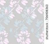 floral seamless pattern. pastel ... | Shutterstock .eps vector #706408363