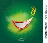 vector illustration or greeting ... | Shutterstock .eps vector #706409317
