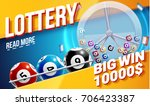 lottery banners with realistic... | Shutterstock .eps vector #706423387