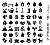 nature vector icons set  park ... | Shutterstock .eps vector #706424113