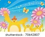 the spring story | Shutterstock .eps vector #70642807