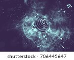 abstract blue background 3d... | Shutterstock . vector #706445647