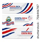 costa rica independence day... | Shutterstock .eps vector #706446787