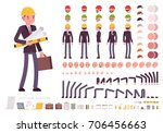 male architect in business suit ... | Shutterstock .eps vector #706456663