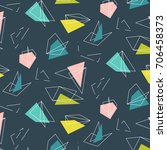 vector colorful polygonal ... | Shutterstock .eps vector #706458373