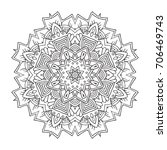 hand drawn mandala with ethnic... | Shutterstock .eps vector #706469743