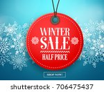Winter Sale Tag Vector Banner....