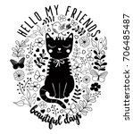 Cat Graphic For T Shirt